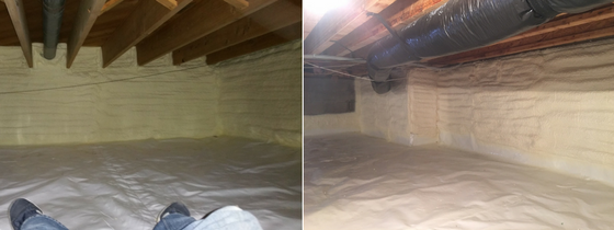 Greene Solutions crawl space insulation