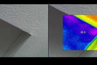 Thermal Imaging of Attic Door