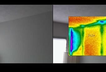 Thermal Imaging in Wall Corner