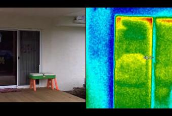 Thermal Imaging Sliding Door