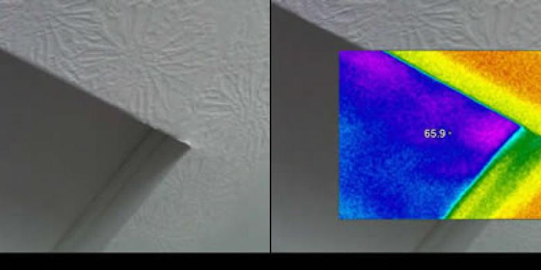 Thermal Imaging of Attic Door
