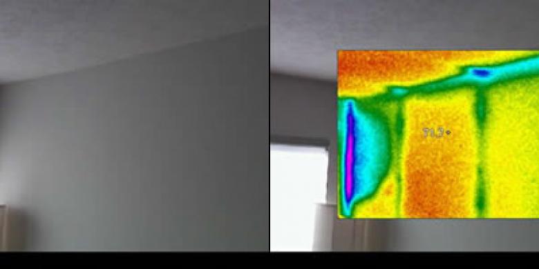 Thermal Imaging in Wall Corner