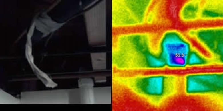 Thermal Imaging Pipe Penetration